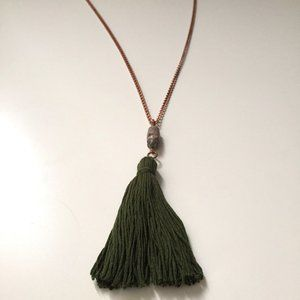 2 for $55 / Green Tassel Necklace